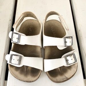 Old Navy | Baby Girl White Sandals Size 18-24 M